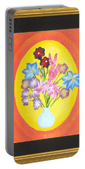 Portable Battery Charger featuring the painting The Bud Vase by Ron Davidson