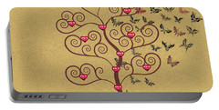 the Butterly heart Tree Portable Battery Charger by Kim Prowse