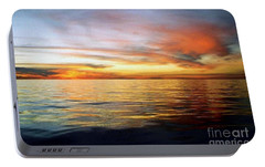 Portable Battery Charger featuring the photograph Gulf Of Mexico The Calm Before Hurricane Katrina Off The Coast Of Louisiana by Michael Hoard