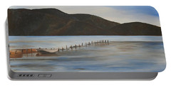 Portable Battery Charger featuring the painting The Calm Water Of Akyaka by Tracey Harrington-Simpson