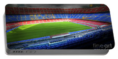 The Camp Nou Stadium In Barcelona Portable Battery Charger