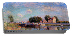 The Canal At Saint-mammes Portable Battery Charger by Alfred Sisley