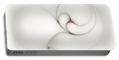Portable Battery Charger featuring the digital art The Caress by Casey Kotas