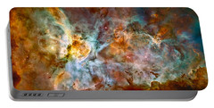 The Carina Nebula - Star Birth In The Extreme Portable Battery Charger by Marco Oliveira