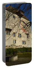 Portable Battery Charger featuring the photograph The Castle Greets A Sunny Day by Felicia Tica