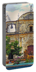 The Cathedral Of Leon Portable Battery Charger by Lydia Holly