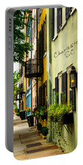 The Charm Of Charleston Portable Battery Charger by Karol Livote