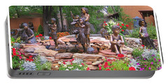 The Children Sculpture Garden - Santa Fe Portable Battery Charger by Dora Sofia Caputo Photographic Art and Design