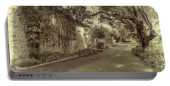 Portable Battery Charger featuring the photograph The Church Lane by Elaine Teague