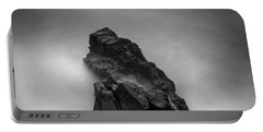 Portable Battery Charger featuring the photograph The Cliff by Gunnar Orn Arnason