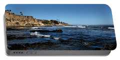 The Cliffs Of Pismo Beach Portable Battery Charger by Judy Vincent