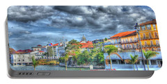 The Colors Of Casco Viejo Portable Battery Charger by Bob Hislop