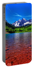 The Colors Of Maroon Bells In Summer Portable Battery Charger