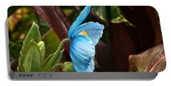 The Colors Of The Himalayan Blue Poppy Portable Battery Charger