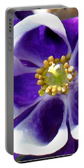 The Columbine Flower Portable Battery Charger by Patti Whitten