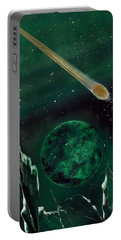 Portable Battery Charger featuring the painting The Comet by Jason Girard