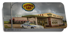 The Corner Gas Station From The Canadian Tv Sitcom Portable Battery Charger