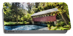 The Covered Bridge At The Red Mill Portable Battery Charger