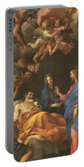 The Death Of Saint Joseph Portable Battery Charger