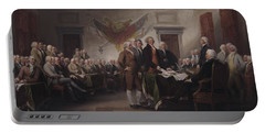 The Declaration Of Independence, July 4, 1776 Portable Battery Charger by John Trumbull