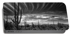 The Desert In Black And White Portable Battery Charger