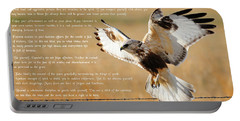 Portable Battery Charger featuring the photograph The Desiderata With Hawk by Greg Norrell