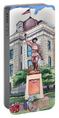 The Doughboy Statue Portable Battery Charger by Katherine Miller