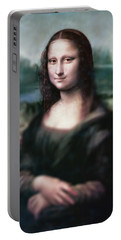 The Dream Of The Mona Lisa Portable Battery Charger by David Bridburg