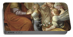 The Education Of The Virgin, 1658 Oil On Canvas Portable Battery Charger