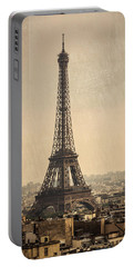 The Eiffel Tower In Paris France Portable Battery Charger