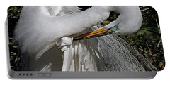 The Elegant Egret Portable Battery Charger by Lydia Holly