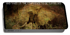 The Elephant - Inner Strength Portable Battery Charger by Absinthe Art By Michelle LeAnn Scott