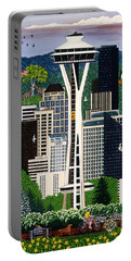 The Emerald City Seattle Portable Battery Charger by Jennifer Lake