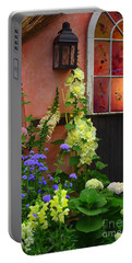 The English Cottage Window Portable Battery Charger by Dora Sofia Caputo Photographic Art and Design