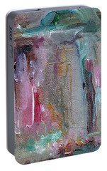 Portable Battery Charger featuring the painting The Entrance by Mary Wolf