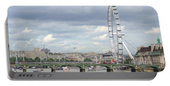 Portable Battery Charger featuring the photograph The Eye Of London by Keith Armstrong