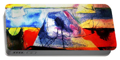 Portable Battery Charger featuring the painting The Fabric Of My Heart by Hazel Holland