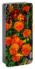 The Fall Pansies Portable Battery Charger by Thom Zehrfeld