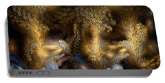 Portable Battery Charger featuring the digital art The Far Country by Casey Kotas