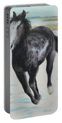 Portable Battery Charger featuring the painting The Feel Of The Cool Air by Jeanne Fischer