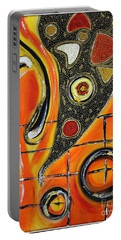 The Fires Of Charged Emotions Portable Battery Charger by Jolanta Anna Karolska
