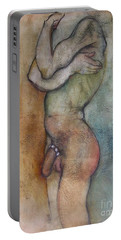 Portable Battery Charger featuring the painting The First Of The Three Wise Men by Carolyn Weltman