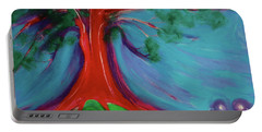 Portable Battery Charger featuring the painting The First Tree By Jrr by First Star Art