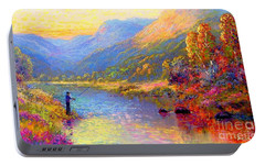 Fishing And Dreaming Portable Battery Charger by Jane Small