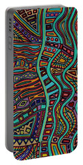 Portable Battery Charger featuring the painting The Flow by Barbara St Jean