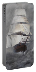 Portable Battery Charger featuring the painting The Flying Dutchman by Virginia Coyle