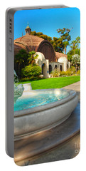 Botanical Building And Fountain At Balboa Park Portable Battery Charger by Claudia Ellis