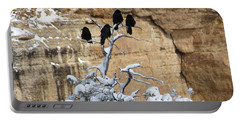 Portable Battery Charger featuring the photograph The Four Crows by Laurel Powell