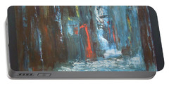 Portable Battery Charger featuring the painting The Free Passage by Mini Arora