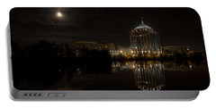 The Full Moon Over The Dudley Tower Portable Battery Charger